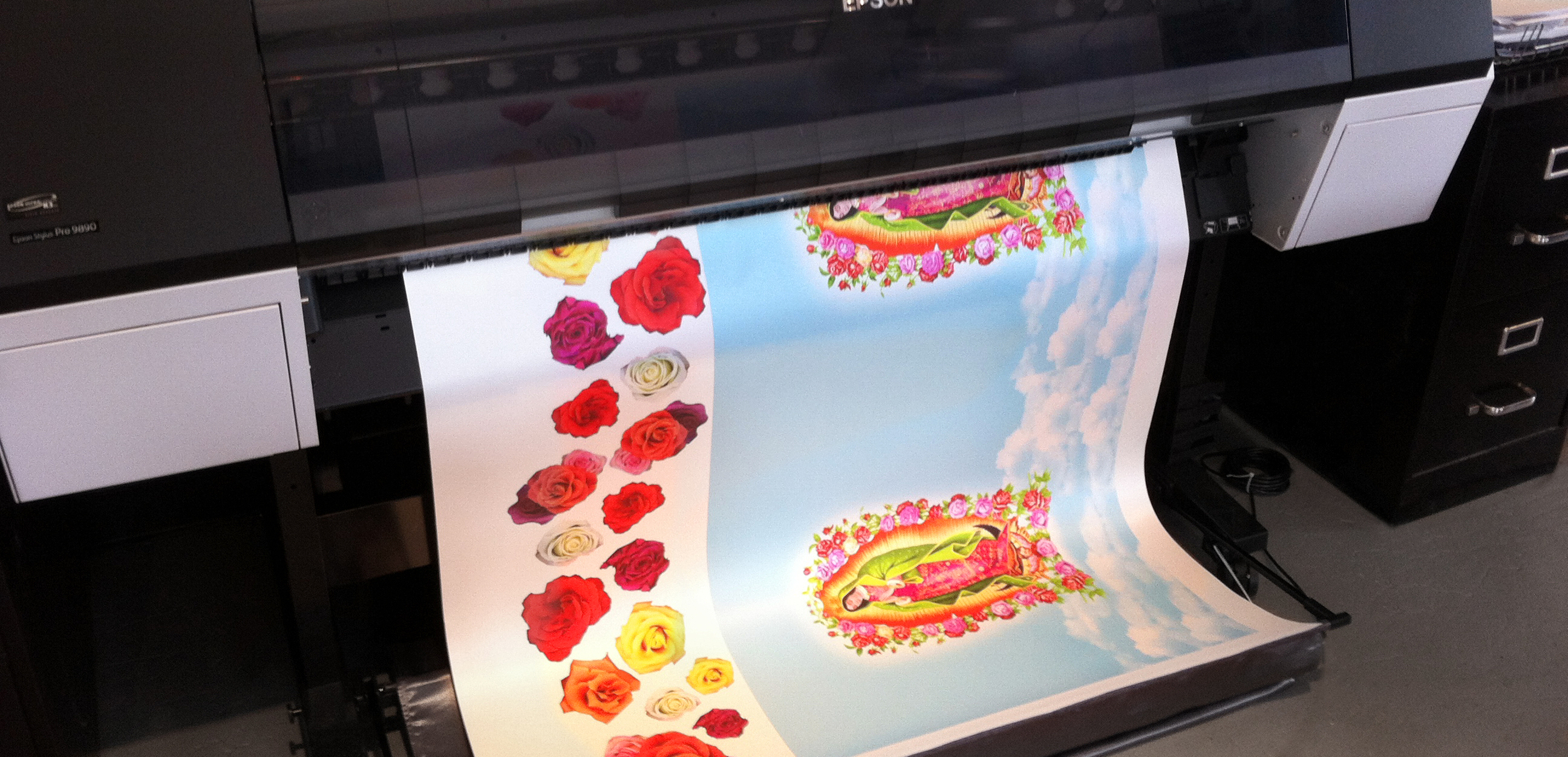 Color space art and imaging fabric printing for Fabric printing